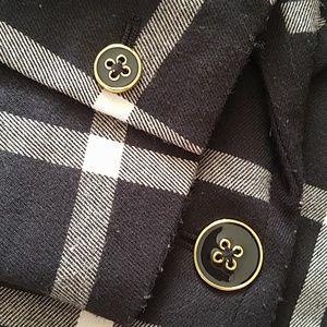 Jackets & Coats - Merona Black and white plaid Blazer